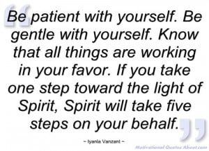 be patient with yourself iyanla vanzant