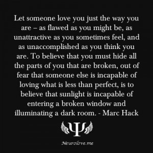 Let yourself be loved