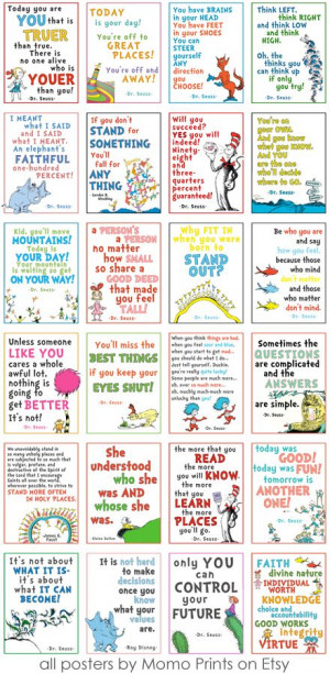 Fun collection of Dr. Seuss quotes! The link doesn't work, but it ...