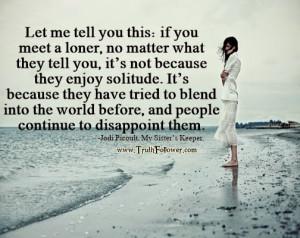 if you meet a loner