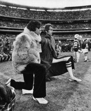 Joe Namath in fur coat