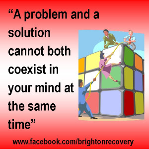 problem and a solution cannot both coexist