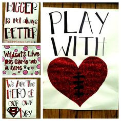 Senior night - just a few more signs we made...making their year as ...