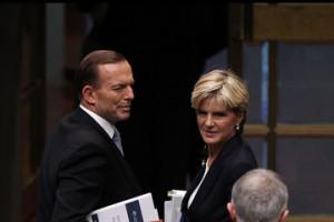 Julie Bishop Post Budget Question Time in Canberra