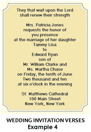 particularly like the Christian sentiment in this invitation.