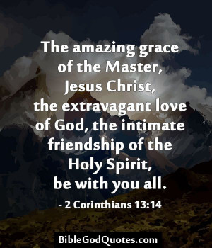 The amazing grace of the Master, Jesus Christ, the extravagant love of ...
