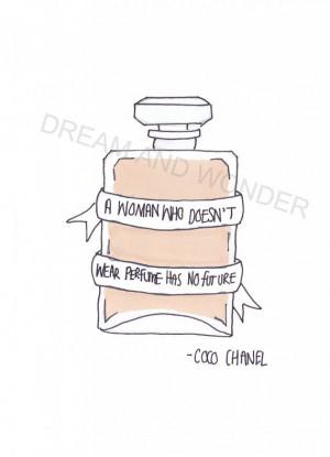 Coco Chanel quote postcard via Etsy