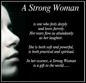 strong woman ...