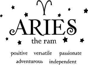 aries the ram horoscope zodiac vinyl wall art decal home decor sayings ...