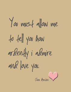 Jane Austen Love Valentine Art Print by DimpleLanePrints on Etsy, $18 ...