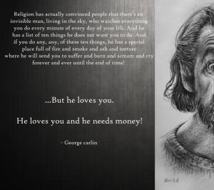 960x854 text humor quotes god religion atheism george carlin christian ...