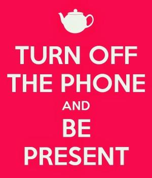 Put the phone down!