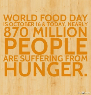 ... help end world hunger and say a prayer for those who are without food