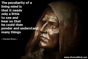 ... and understand many things - Giordano Bruno Quotes - StatusMind.com