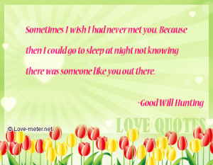 Good Will Hunting Quotes Love ~good will hunting