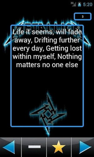 metallica quotes now updated with more quotes and the ability to mark ...