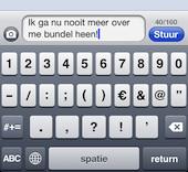 Aantal tekens van SMS-bericht weergeven op de iPhone