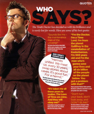 Doctor Who Tenth Doctor Quotes
