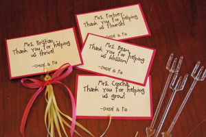 ... , added a ribbon and bang - personalized last minute teacher gifts