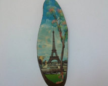 ... Of Paris - Vintage Wall Hanging Plaque - Paris Eiffel Tower Painting