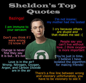 Sheldon's Top 10 Quotes