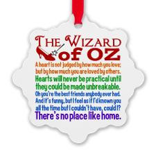 Wizard of Oz Quotes Snowflake Ornament for