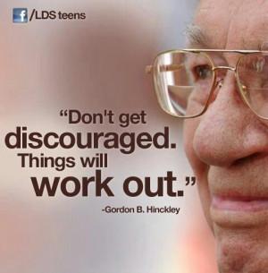 Gordon B. Hinckley quote