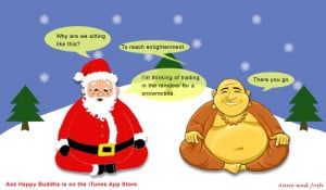 Ask Happy Buddha,Happy Buddha,Front Pocket Media,Funny,Jokes,Santa ...