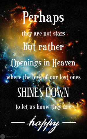 Perhaps they are not stars but rather openings in heaven where the ...