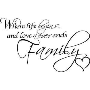 ... never endless love to my family ~ life love for family ~ Family Quote