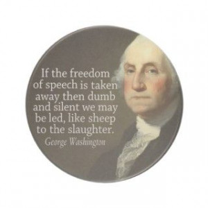 George Washington Quote on Freedom of Speech coasters by FamousQuotes