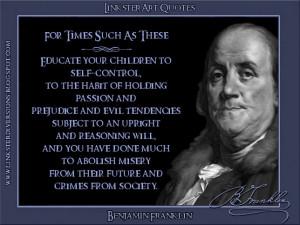 LinksterArt Quotes: Benjamin Franklin
