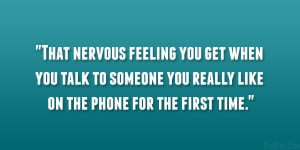 feeling nervous quotes