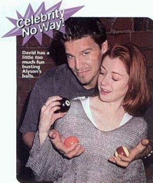 david and his balls and aly - buffy-the-vampire-slayer Photo
