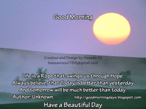 Good Morning Tuesday. 8 Inspiring Quotes for the day