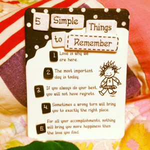 Simple Things to Remember!