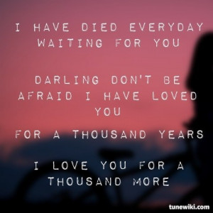 Thousand Years by Christina Perri - This song chokes me up more than ...
