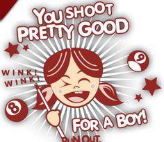 you shoot pretty good for a boy # girlpower # billiard pools honkey ...