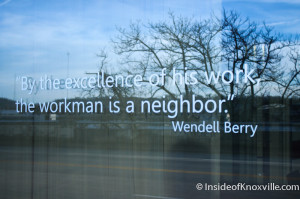 Wendell Berry Quote, Synergy, Knoxville, 2014