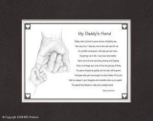 my daddy s hand show dad how much you care with this thoughtful poem