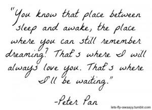Disney Peter Pan Love Quotes Peter pan quot.
