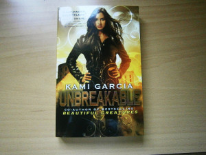 was very lucky and won Unbreakable by Kami Garcia in a goodreads ...