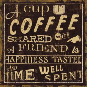 Coffee Quote I Art Print