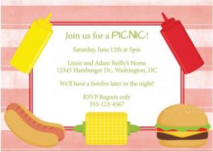 Picnic Invitation BBQ Barbeque Invite DIY by CowPrintDesigns, $8.00