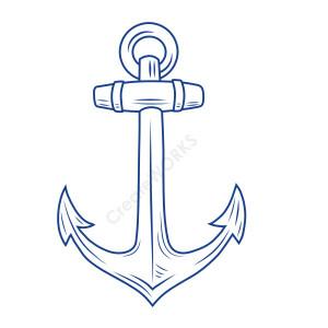 Ship's Anchor wall sticker / Wall Art / Nautical themed decoration ...