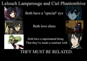 Code Geass and Black Butler - anime Photo