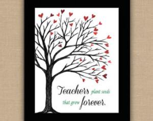 Art Quotes For Teachers Teacher wall art. any size.
