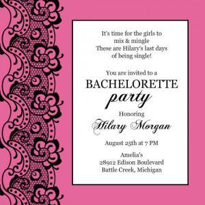 bachelorette invitation wording template ruXiitVW