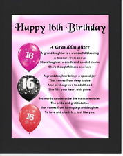 granddaughter personalised with your granddaughters details on the ...