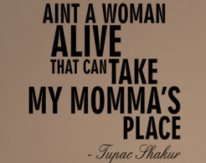 Tupac Shakur Dear Mama Quote Decal Sticker Wall Vinyl Music ...